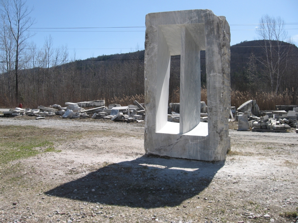 """Two Empty Spaces Divided By A Wall"", marble, 2012, 155×139×269cm / 61×54.6×106"""