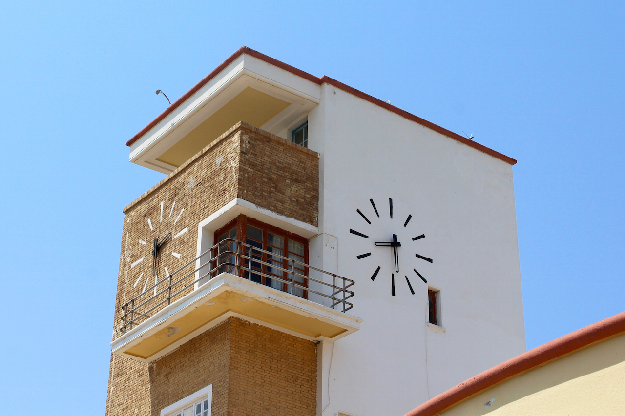 The market clock in Lakki